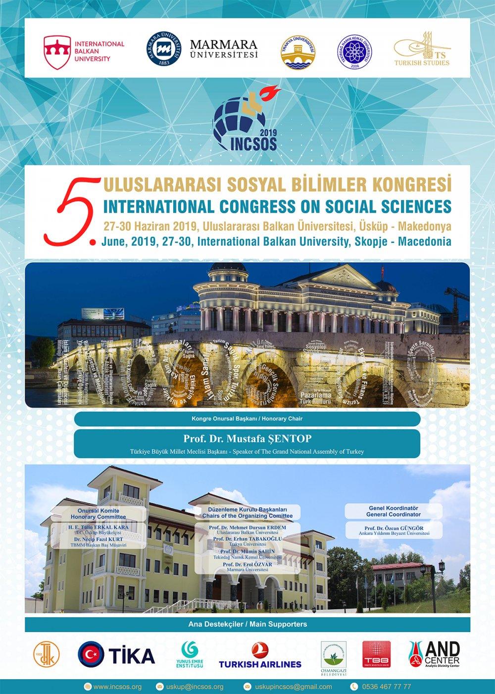 Photo of Balkanlar 5.Sosyal Bilimler Kongresine Ev Sahipliği Yapacak