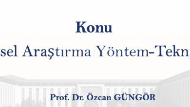 Photo of Bilimsel Araştırma Yöntem-Teknikleri